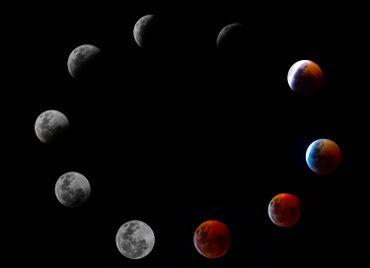 Les plus belles images de l'éclipse totale de lune