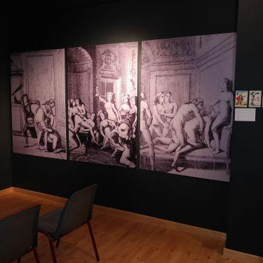 Plusieurs gravures représentants les orgies et partouzes du temps du Marquis de Sade