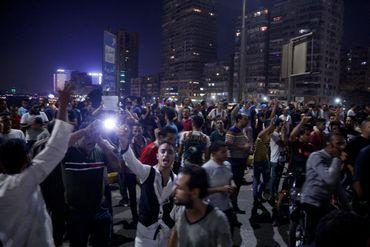 Des manifestants dans les rues du Caire, le 20 septembre 2019.