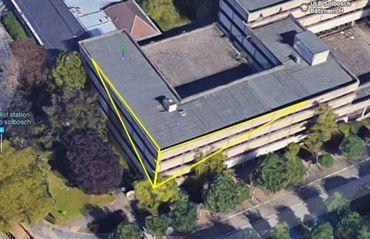 Le bâtiment H mis à disposition du futur graffeur sélectionné.