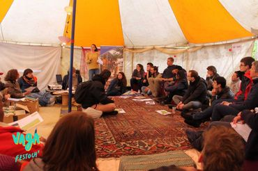 1re Édition, conférence sous la tente chill
