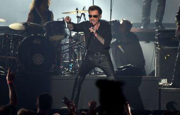 Johnny Hallyday en concert à Bruxelles, le 26 mars 2016