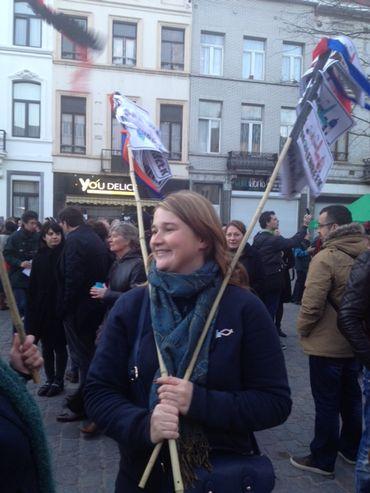 Dès 16h les participants ont commencé à affluer sur la place communale de Molenbeek