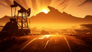 """Ce jeu pourrait faire officie de """"Jeu vidéo de genre"""" avec son côté Road Trip très US - capture d'écran de Road 96"""