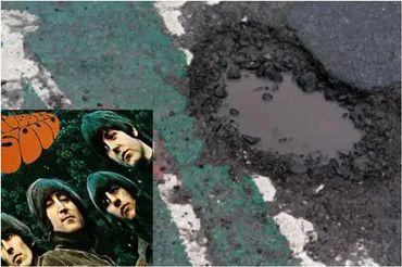 Un nid de poule Paul McCartney