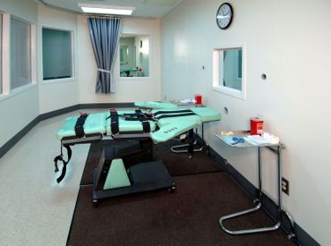 Chambre d'injection létale à la prison San Quentin, en Californie.