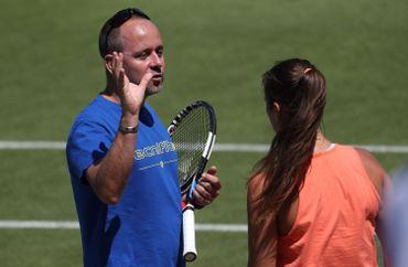 Philippe Dehaes à l'entraînement avec Daria Kasaktina