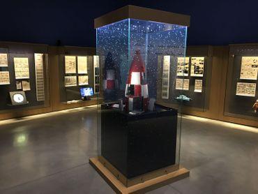 Au Musée Hergé, une salle est consacrée à l'aventure lunaire de Tintin.