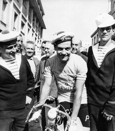 Jan Adriaensens avec un bonnet de marin, en 1960