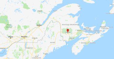 Fredericton dans l'est du Canada.