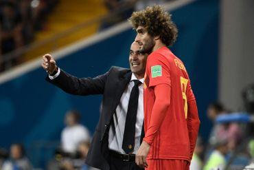 Roberto Martinez et Marouane Fellaini