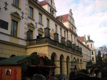 Un fragment de la façade côté parc de l'aile XVII-XVIIIe siècles du château princier…