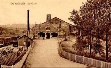 La gare d'Ottignies fut construite au milieu du 19e siècle.