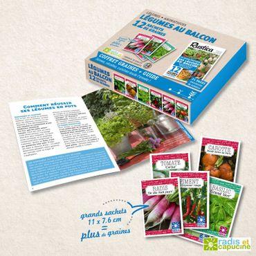 Coffret « Des légumes sur le balcon » Radis et Capucine