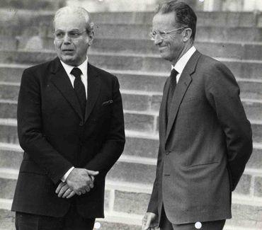 Javier Perez de Cuellar et le roi Baudouin, en 1984