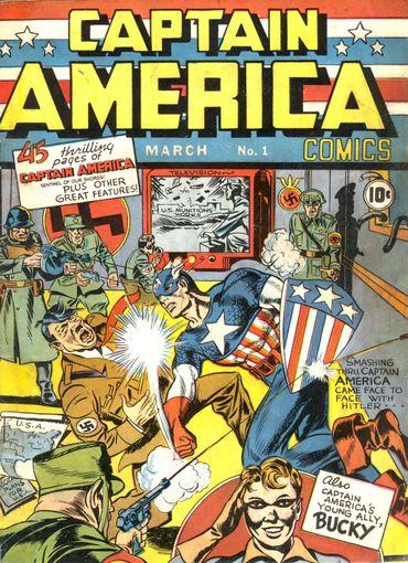 Captain America, en 1939, s'en prend à Hitler