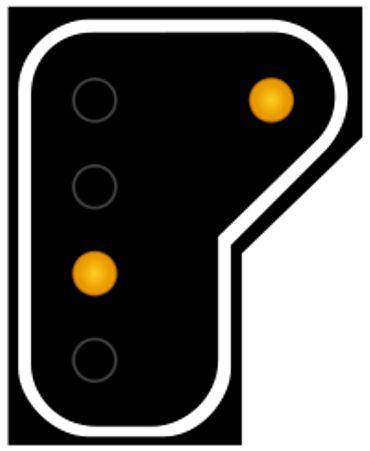 """Un signal """"double jaune"""" annonce un signal rouge plus tard."""