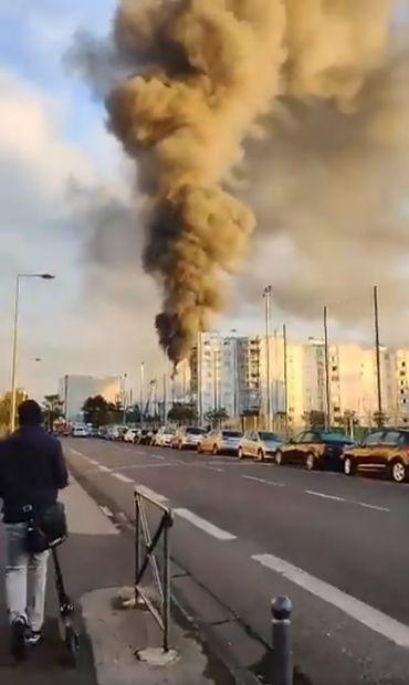 Incendie à Villeurbanne