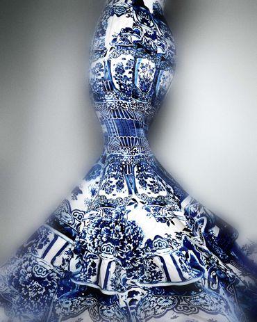 """China: Through the Looking Glass"": Robe de soirée, Roberto Cavalli (Italien, né 1940), automne/hiver 2005–6"