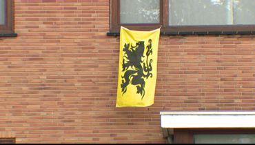 Le lion de Flandre décore la façade de Bart De Wever