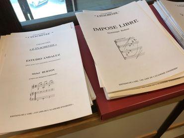 A l'académie d'Eghezée, on travaille uniquement sur des partitions originales.