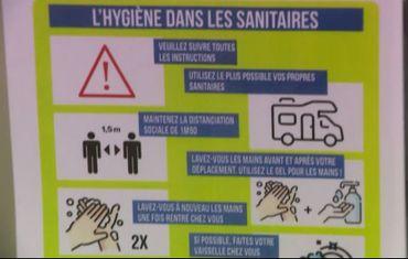 Le rappel un peu partout des règles d'hygiène et de prévention.