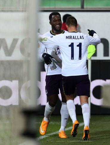 Romelu Lukaku et Kevin Mirallas