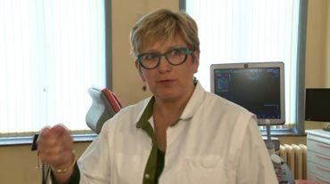 Le Dr Pascale Grandjean, gynécologue obstétricienne au CHR Mons-Hainaut.