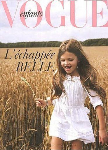 Thylane Blondeau en couverture de Vogue Enfants