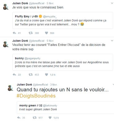 Julien Doré déchaîné sur Twitter: quelques-unes de ses meilleures répliques