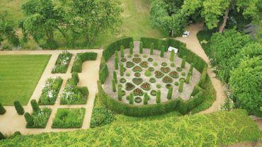Le jardin des coeurs imaginé par Alice Van Buuren, en hommage à son époux défunt.
