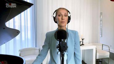 """Céline Dion en viséo-concert lors de la soirée """"Together at Home"""", le 19 avril 2020"""