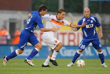 Francesco Totti en action contre Gand en 2009