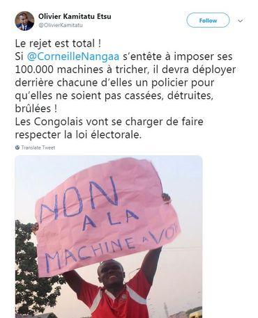 RDC: 7.000 machines à voter parties en fumée?