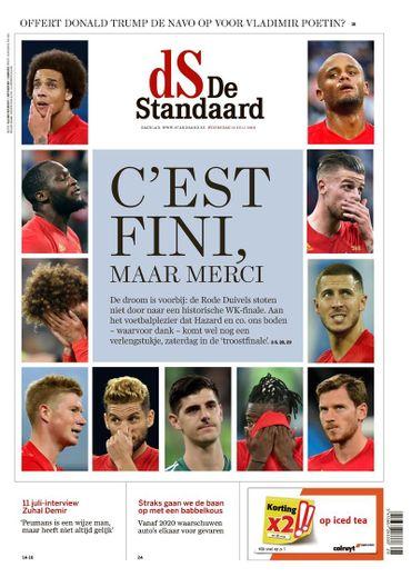 La presse flamande partagée entre tristesse et fierté après une défaite diabolique