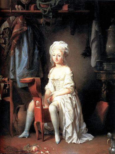 La toilette intime ou la rose effeuillée - Louis Léopold Boilly