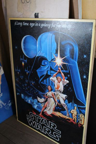 "Un version revisitée de l'affiche de ""Star Wars""."
