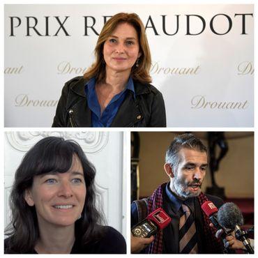 En haut: Olivia de Lamberterie. En bas, à gauche, Valérie Manteau et, à droite, Philippe Lançon.