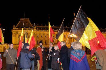 Devant le palais royal de Bruxelles, le 13 décembre 2006
