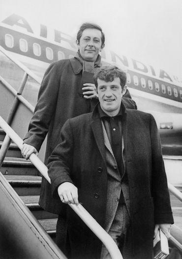 Avec Jean-Paul Belmondo en 1965