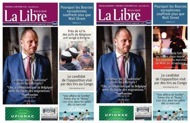 Un même jour, deux unes différentes pour La Libre Belgique.