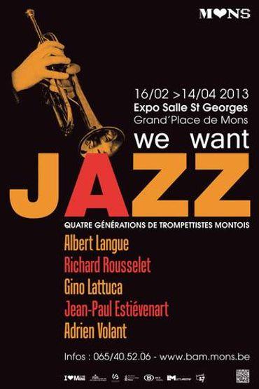 L'affiche de l'exposition We Want Jazz