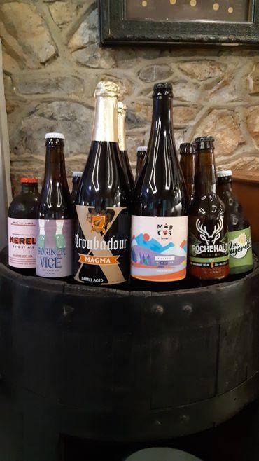 """A la brasserie-restaurant """"La taverne de Soiron"""", grand choix de bières, cuisine simple et authentique"""
