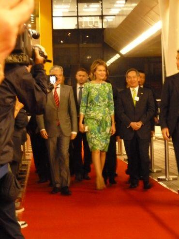 La Reine Mathilde a officiellement inauguré le dernier pavillon belge de la Business of Design Week
