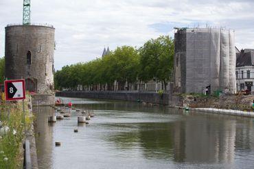 Le Pont des Trous à Tournai en août 2020