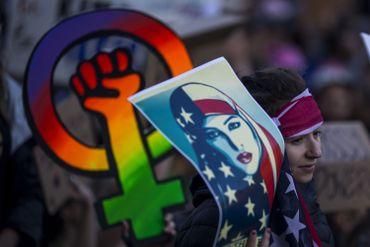 En une photo, le respect des droits des LGBT, des femmes et des musulmans est illustré