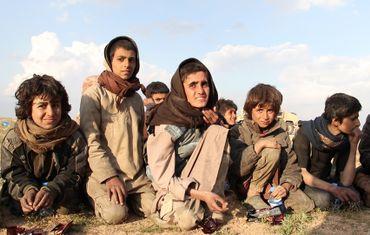 Des jeunes yézidis à Deir Ezzor en Syrie, ayant fui l'Etat islamique (2019)
