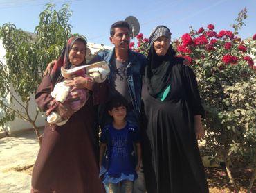 Jordanie:famille de réfugiés de Zaatari