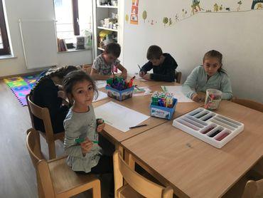 Les enfants du cours d'anglais