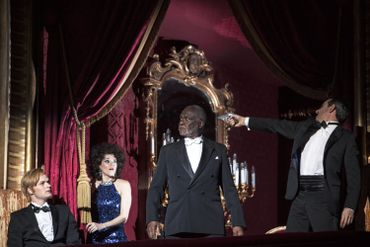 Don Giovanni à la Monnaie : Andreas Wolf (Leporello), Barbara Hannigan (Donna Anna), Sir Willard White (Il Commendatore), Jean-Sébastien Bou (Don Giovanni)